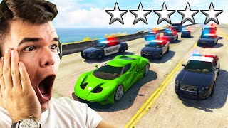 Download Can You ESCAPE 5 STARS WANTED in GTA 5?! Video