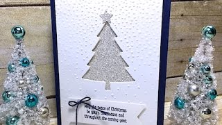 Download Simply Simple MAKE IT IN MINUTES Shimmery Christmas Tree Card by Connie Stewart Video