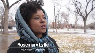 Download MLK Day marchers in Colorado Springs push a message of coming together Video