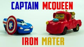 Download Captain McQueen VS Iron Mater | New Found Power Disney Cars Play-doh Lightning Toys Video