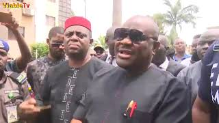 Download Fayose : Drama As, Wike, FFK, Ozekhome, Supporters Besiege EFCC Video