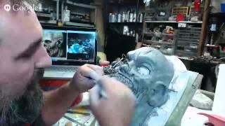 Download Zombie half mask sculpt Video