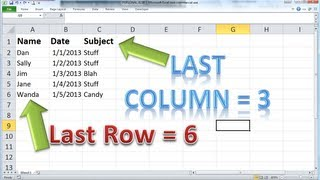 Download Excel VBA Basics #8 - Find the LAST ROW or COLUMN dynamically and clearing out your last report Video