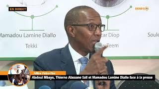 Download Affaire Pétro-Tim : Abdoul Mbaye, Thierno Alassane Sall et Mamadou Lamine Diallo Face à la presse Video