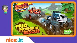 Download Blaze and the Monster Machines: 'Mud Mountain Rescue' Game Walkthrough | Nick Jr. Games Video