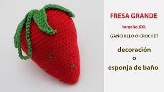 Download Como tejer una fresa a ganchillo tamaño XXL para esponja de baño o decorar - Labores y Punto Video