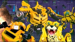 Download Bumblebee VS Bumblebee VS Cheetor! Transformers Stop Motion | Feat. JobbytheHong | Toy Animation | Video
