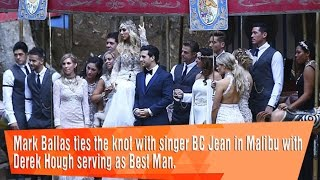 Download Mark Ballas ties the knot with singer BC Jean in Malibu with Derek Hough. Video