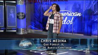 Download American Idol 2011 Chris Medina Fiance Has Brain Damage and Sings His Heart Break Even For her [HD] Video