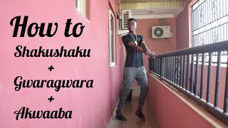 Download How to do the Shakushaku + Gwara Gwara + Akwaaba dance in just 5 Minutes (Dance Tutorial ) Video