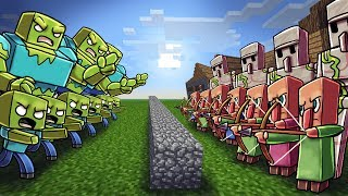 Download Minecraft | ZOMBIE ARMY VS VILLAGER ARMY! (Massive Mob Battles) Video