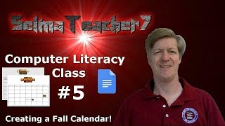 Download Google Docs and Using WordArt to make a Calendar! Computer Literacy Lesson 5 Video