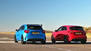 Download DRAG RACE! Mercedes A45 AMG - TUNED VS STOCK Video