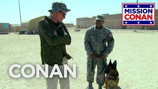 Download Conan Trains With The Military Working Dog Unit - CONAN on TBS Video