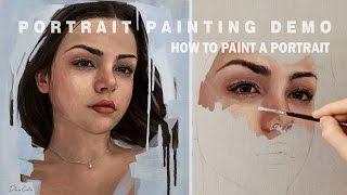 Download PORTRAIT PAINTING DEMO || Oil Painting Time-Lapse Video