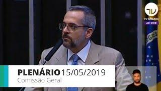 Download Plenário - Comissão Geral ouve ministro da Educação - 15/05/2019 Video