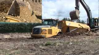 Download Digging Out The Stuck Volvo A30E Dumper Video