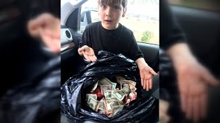 Download Boy, 7, Called A Hero After Finding Stolen Bag Of Cash Near Robbery Scene Video