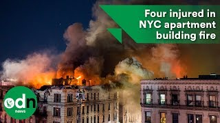Download Four injured in NYC apartment building fire Video