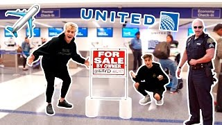 Download I PUT UNITED AIRLINES UP FOR SALE **PRANK** (COP CHASE) Video