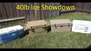 Download Yeti vs Cabela's Polar Cap vs 2 Coleman Xtreme Cooler Ice Test Video