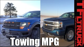 Download Ford F-150 6.2L Raptor vs 2016 Chevy 6.2L Silverado Real World MPG Smackdown Review Video