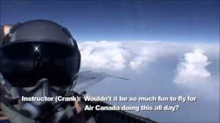 Download F18 training flight landing in a civilian airport Video