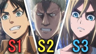 Download How Attack on Titan Has Evolved Season by Season Video