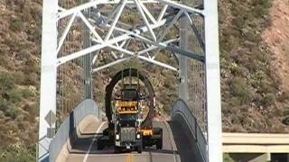 Download 285 Ton Oversize Load Putting A Flat Spot In The Roosevelt Lake Bridge 8-16-11 Video