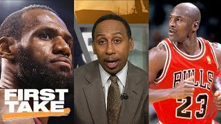 Download Stephen A. Smith: LeBron James can never surpass Michael Jordan | First Take | ESPN Video
