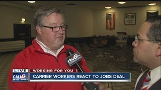 Download Workers react to Carrier jobs deal that will save over 700 jobs Video