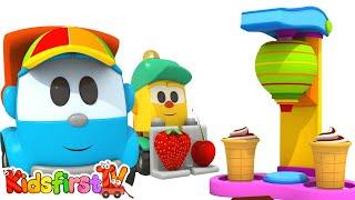Download Leo the truck: ice cream machine. Cartoon for kids. Video