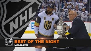 Download Fleury, Reaves help Vegas advance to Cup Final, Hellebuyck's great goal line save Video