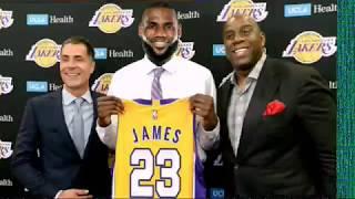 Download Lebron James will sign LA Lakers Magic Johnson Rich Paul Free agency Cleveland KCP NBA trade Kawhi Video