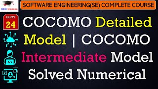 COCOMO Detailed Model Example in Hindi and English