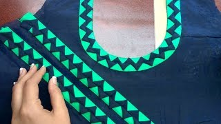 Download Latest neck and sleeves design in very easy way Video