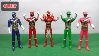 Download Bộ 5 Anh em siêu nhân chiến đội thú điện khủng long Power ranger Kyoryuger toy for kid đồ chơi Video