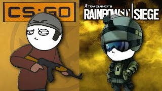 Download CSGO Vs Rainbow Six Siege Video