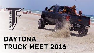 Download Crazy Trucks Drifting on the Beach - Truck Fever Meet Daytona 2016 Video