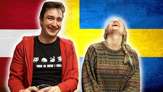 Download Swedish girl tries to speak Danish - Danish boy tries to speak Swedish 1 Video