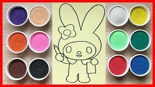 Download Đồ chơi TÔ MÀU TRANH CÁT thỏ bảy màu xinh Learn colors Sand Painting Toys (Chim Xinh) Video