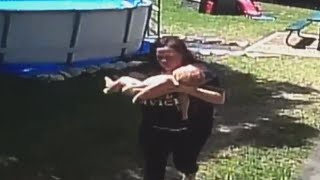 Download Texas Mom Performs CPR on Baby After He Climbed Ladder of Above Ground Pool Video