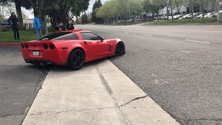 Download This is how you should leave a car show in a Corvette (Drift, burnout, donuts) 1080p Video