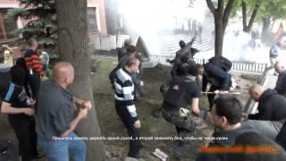 Download Бой у Донецкой областной прокуратуры. 01.05.2014/Fight off the Donetsk regional prosecutor's office Video