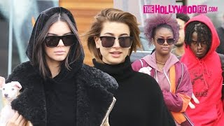 Download Kendall Jenner, Hailey Baldwin, Ian Connor & Justine Skye Take New Dog Mew Shopping & To Lunch Video