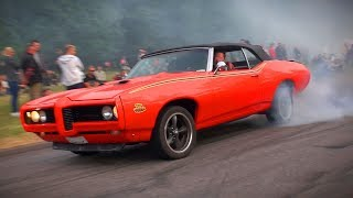 Download BRUTAL Muscle Car SOUNDS and BURNOUTS!! - Vantaa Cruising 6/2018 Video