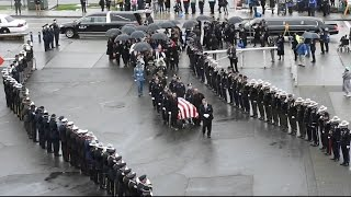 Download Procession And Memorial Service Honoring Fallen Officer Video