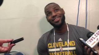 Download LeBron James says NBA only has rest 'problem' when he sits Video