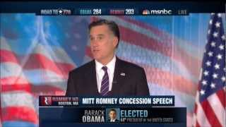 Download Mitt Romney's Concession Speech Video