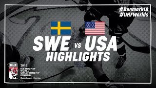 Download Game Highlights: Sweden vs USA | #IIHFWorlds 2018 Video